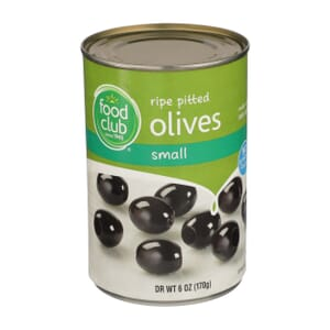 Ripe Pitted Olives, Small