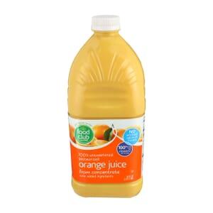 100% Unsweetened Orange Juice
