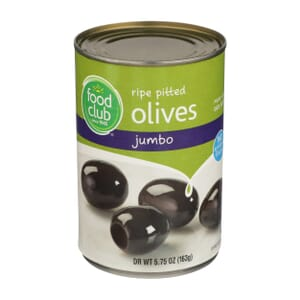 Ripe Pitted Olives, Jumbo