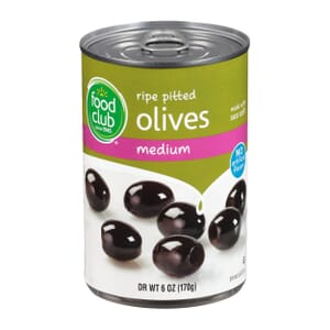 Ripe Pitted Olives, Medium