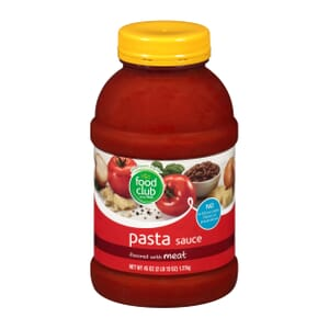 Pasta Sauce, Flavored With Meat