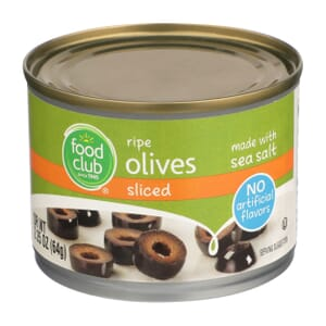 Ripe Olives, Sliced
